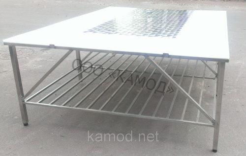 Обвалочный стол трехсторонний с полкой
