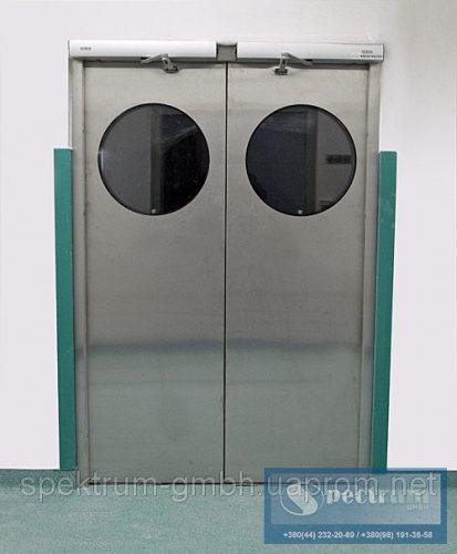 Двери автоматические двух створчатые