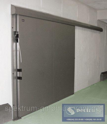Двери холодильные одностворчатые откаточные из нержавейки