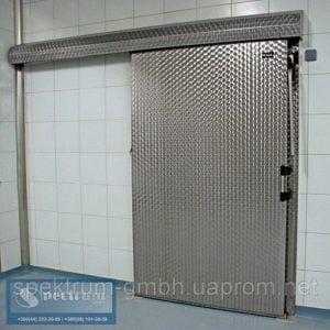 Морозильные двери одностворчатые раздвижные