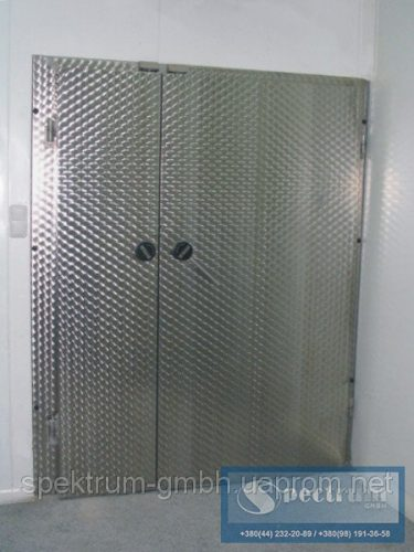 Двери морозильные двустворчатые распашные