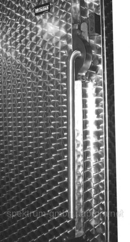 Двери одностворчатые автоматические с ручкой и замком