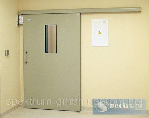 Двери медицинские раздвижные