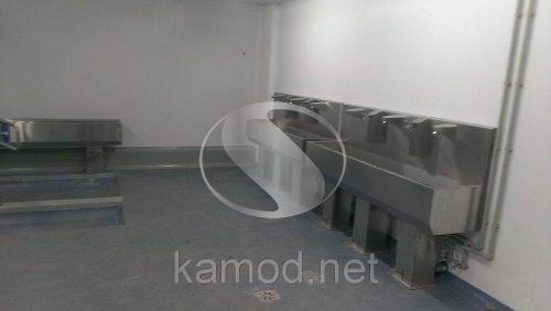 Производственный умывальник бесконтактный три секции с педалью